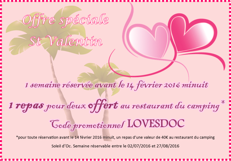 Offre St Valentin