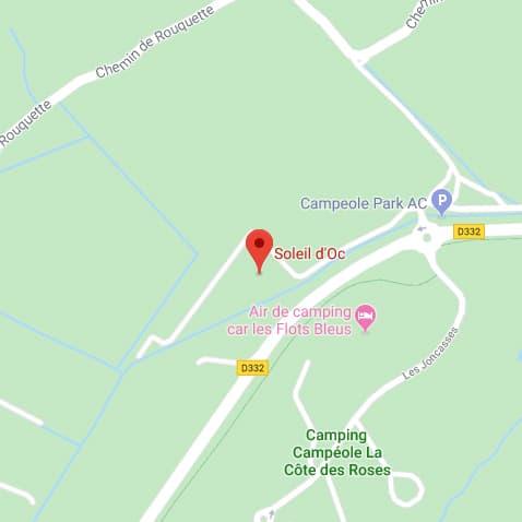 Camping Soleil d'Oc - Localisation du camping à Narbonne-Plage