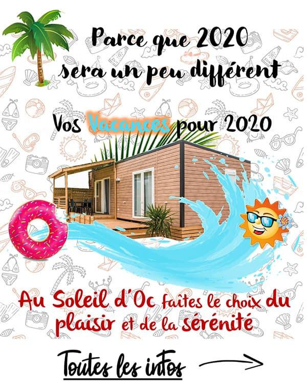 Camping Soleil d'Oc - Vacances 2020